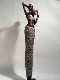 african woman statue kenyan tribal art doll figurine