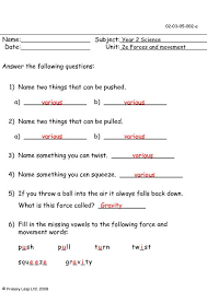 force and motion worksheets worksheets