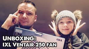 unboxing the ixl ventair 250 ceiling fan youtube