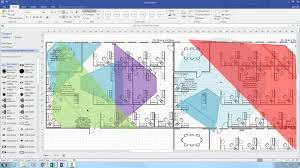 Home Floor Plan Visio Stencil Axis Coverage Shapes For Microsoft Visio Axis Communications