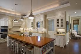 Transitional Island Lighting Banquette Lighting Over Kitchen Transitional Boston With