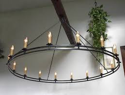 Wood Iron Chandelier Forged Signed Custom Wrought Iron Chandelier Home Of Inside