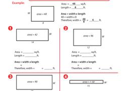 area worksheets education com