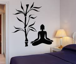 compare prices on small tree wall decal online shopping buy low buddha tree blossom yoga vinyl wall decal buddhism sit in meditation relaxation art wall sticker living