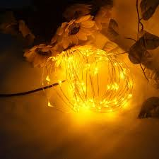 aa battery light bulb 5m 50leds copper wire led string lights aa battery powered