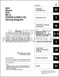late 1991 mazda 626 and mx 6 wiring diagram manual original