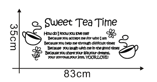 ebay thanksgiving quote sweet tea time removable