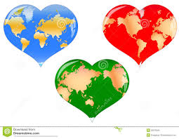 Heart Map World Map In Heart Stock Photography Image 7460482
