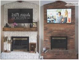 fireplace view how to cover old brick fireplace decorating ideas