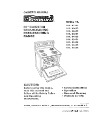 kenmore oven 911 93478 user guide manualsonline com