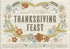 invitation to thanksgiving dinner cimvitation