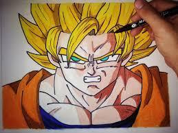 imagenes de goku para dibujar faciles con color como dibujar a goku ssj paso a paso how to draw goku ssj english