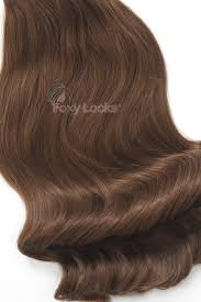 foxy locks hair extensions chestnut brown 6 deluxe 20 clip in human hair extensions 165g