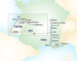 Nice France Map by Lisbon To Nice Douro U0026 Southern France River Cruise Evergreen Tours