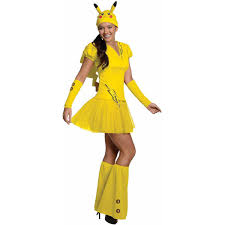 despicable me halloween costumes pokemon pikachu women u0027s halloween costume walmart com