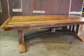 buy a custom large barnwood trestle table made to order from