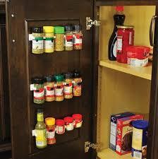 Kitchen Cabinet Door Spice Rack 4x Spice Jar Wall Rack Storage Organizer Kitchen Cabinet Door