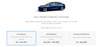 my 2018 3 series official tesla updates model 3 reservation holders with new delivery dates