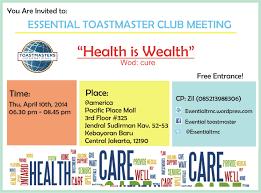 Meeting Invitation Card Essential Regular Meeting Invitation April 10th 2014