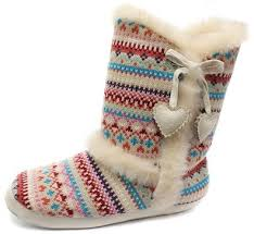 womens slipper boots size 11 buy dunlop annabelle multi womens boot slippers size 9 10