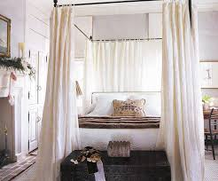furniture toodler white canopy bed with white curtain on brown