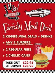 family meal deal mj s diner tralee