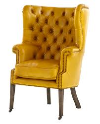 Leather Upholstery Chair Mann Wingchair Traditional Transitional Lounge Chairs Dering Hall