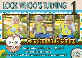 birthday invitation themes first birthday invitations owl theme alesi info