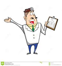 cartoon doctor with clipboard royalty free stock photo image