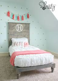 Bed With Headboard Diy Platform Bed And Headboard Shanty 2 Chic