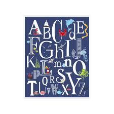 Abc Nursery Decor Children S Wall Nursery Decor Nautical Alphabet Poster Abc