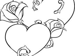 hearts roses coloring pages coloring pages heart coloring