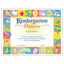 kindergarten certificates trend enterprises kindergarten classic diploma 30 pkg
