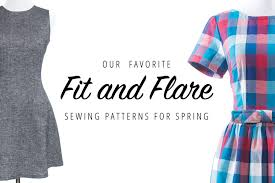 dress pattern fit and flare our favorite fit and flare sewing patterns for spring