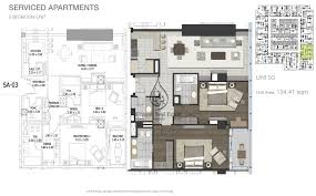 entisar tower 2 bedroom apartment unit 4 floor plan