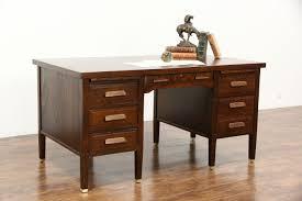 desk with file drawer sold oak quarter sawn 1915 antique desk file drawer pull out