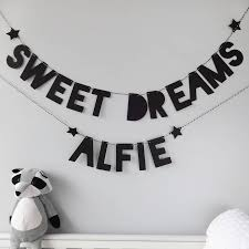 Personalised Baby Nursery Decor Personalised Sweet Dreams Name Bunting Baby Nursery Decor