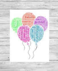 personalised birthday balloons bespoke personalised birthday balloons word print show it