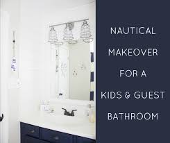Kids Bathroom Makeover - nautical bathroom makeover the inspired hive