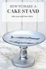 cheap cake stand easy diy decoupaged ikea cake stand pillar box blue