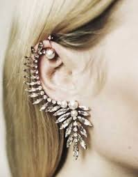 seconds earrings min seconds kill spx6244 free shipping fashion leaf ear cuff