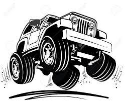 cartoon 4 wheel drive royalty free cliparts vectors and stock