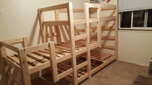 Ana White Bunk Bed Plans by Ana White Triple Bunk Bed Diy Projects