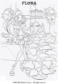 flora magic fairy coloring pages hellokids