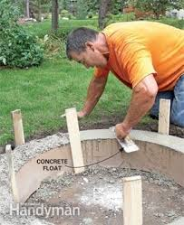 Concrete Firepit How To Build A Diy Pit The Family Handyman