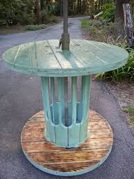 outdoor tables made out of wooden wire spools 788 best large wooden spools images on pinterest cable reel table