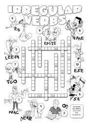 irregular verbs workheet n 106486