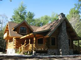 cabin home sleeping bear log home