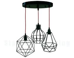 Cage Light Pendant Industrial Cage Work Light Pendant Star Of Black Finished