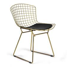 Bertoia Dining Chair Bertoia Side Chair Brass